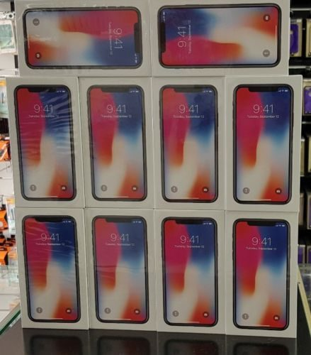 Apple iPhone x boxes